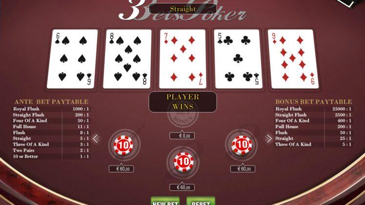 Playing 5 Card Stud